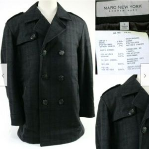 Marc New York Men's Coat Double Breasted Sz Large